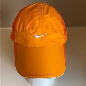 Nike dri-fit orange running fitness cap hat